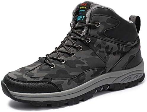 防水ハイキングブーツメンズハイキングシューズはトレーナーアンチ屋外ロッククライミングとすべての季節に最適の軽量靴スリップ (Color : Camouflage gray, Size : 9.5UK)