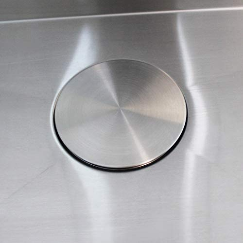 GZILA Kitchen Sink Stopper, Flat Decor Cover 304 Stainless Steel Sink Drain Stopper, Fits 3.5
