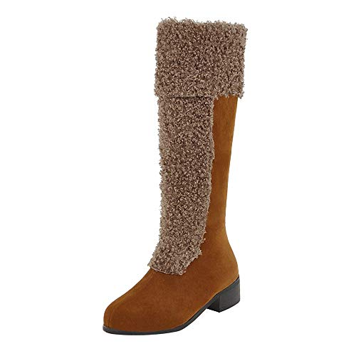 Todaies Women Boots Winter Shoes Hairy Warm Snow Boots Heels Ankle Boots Middle Boots -