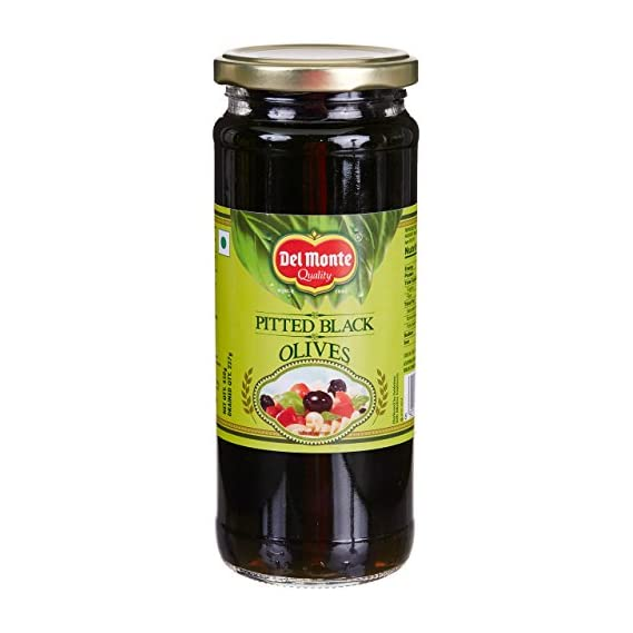Del Monte Black Pitted Olives, 450g