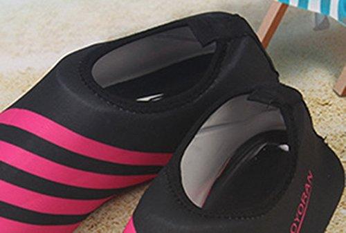 Panegy Mens Donna Mesh Traspirante Outdoor Soft-con La Suola Antiscivolo Piede Wading Slip-on Acqua Pelle Scarpe Rosso Banda