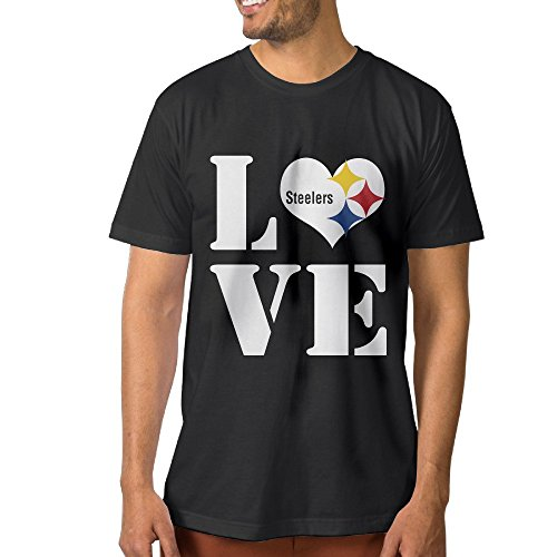 Show Time Men's Pittsburgh Steeler Short Sleeve New Style T Shirt Black L -