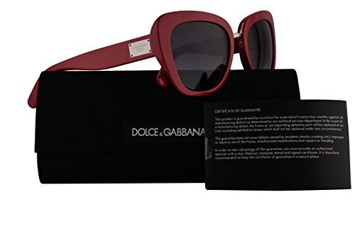 Dolce & Gabbana DG4296 Sunglasses Red w/Grey Gradient Lens 53mm 30978G DG4296/S DG - Gabbana And Red Dolce Sunglasses