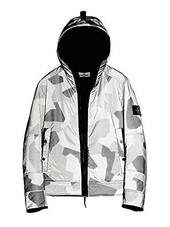 Black and white stone island jacket
