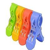 Marrywindix 8pcs Large Size Bright Color Plastic Large Beach Towel Clips Quilt Clip Clothes Hanger