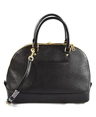 Coach Cross Grain Leather Sierra Satchel Crossbody Bag Purse Handbag