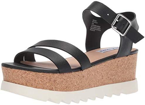 c3e8d2be19bb0 Steve Madden Women's KEYKEY Sandal Black Leather 10 M US: Amazon.com ...