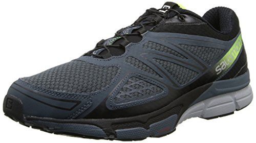 Salomon X-Scream 3D - Zapatillas para hombre Grey Denim/Black/Fluo Yellow