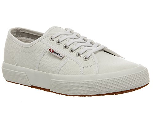Superga , Damen Sneaker Weiß White Leather