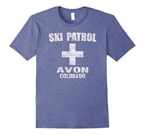 Avon Colorado Ski Patrol T-Shirt Medium Heather Blue (Avon T-shirt T-shirts)
