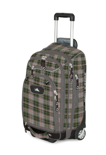 High Sierra Rädern Handgepäck Boot Bag Stiefeltasche Green Gray Plaid / Black bzEzD