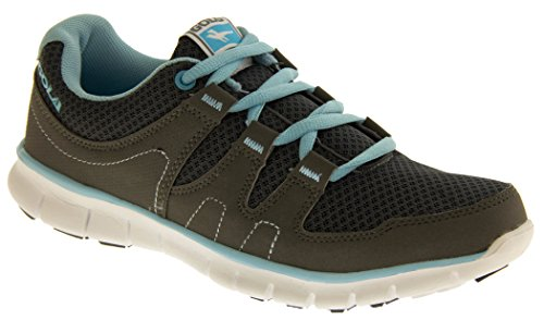 Womens GOLA ACTIVE Fitness Training Shoes Flats Casual Exercise Running Trainers Charcoal Grey / Blue yM5tTstvmI
