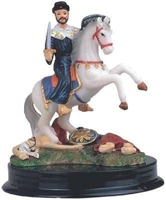 5 pulgadas St James Santiago Estatua Figura decorativa de San Santo San Jaime España religiosa: Amazon.es: Hogar