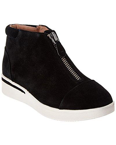Douce Âmes Femmes Hazel-fay Plate-forme Midtop Avant Zip Sneaker Noir