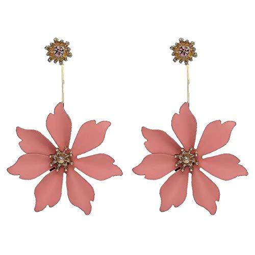 Shining Diva Fashion Metal and Cubic Zirconia Floral Earrings for Women & Girls