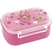 Sigikid Mädchen, Brotdose mit buntem Druck, Brotzeitbox Pinky Queeny, Pink, 24472