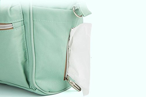 Bolso de la momia del hombro, bolso multi-funcional con estilo del mensajero, bebé impermeable ligero fuera del bolso ( Color : Verde ) Pink