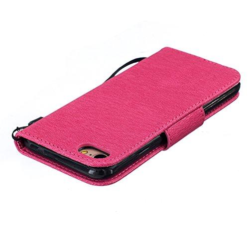 iPhone 7 4.7 Custodia in Pelle Protettiva Flip Cover per iPhone 7 4.7 Snap-on Magnetico Bookstyle TPU Case - Cozy Hut Fatto a Mano Custodia Wallet Protettiva Portafoglio Stand Case Magnetico Flip,ID S