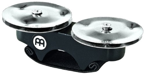 Meinl Percussion FJS1S-BK Steel Finger Jingles