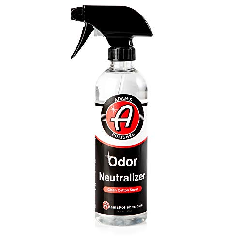 Adam's Odor Neutralizer - Specially Formulated Air Freshener That Eliminates Harmful Odors from Car Interior Accessories, Leather Seats, Carpet Upholstery, Pet Odors (Clean Cotton Scent)