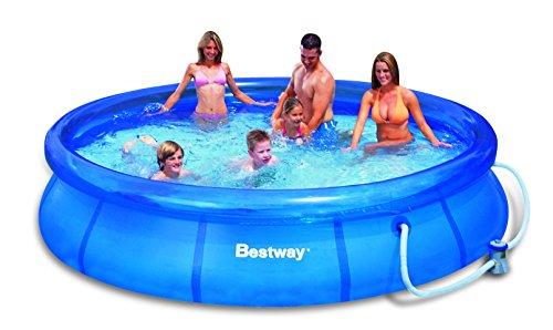 Bestway piscina de rapida instalacion con bomba for Precio piscina bestway
