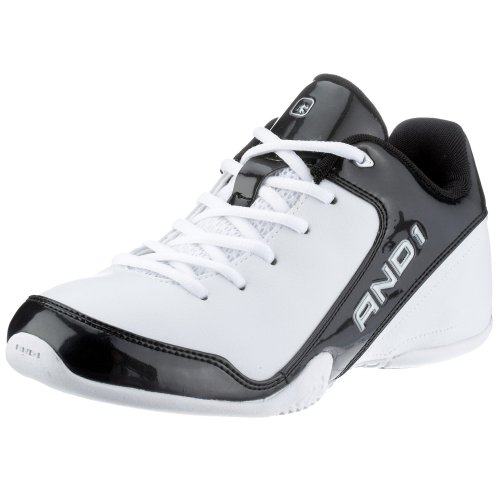 Amazon.com | AND 1 Men's Sport Low Basketball Shoe, White/Black ...