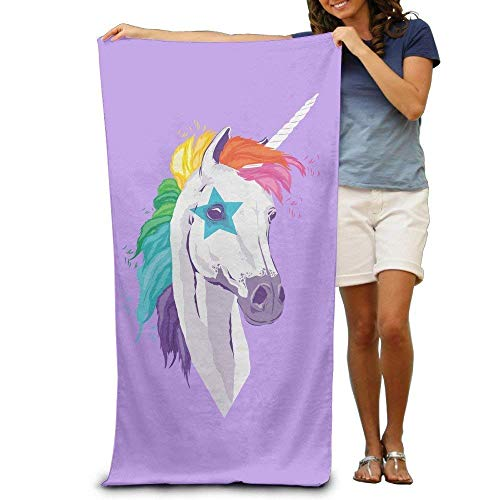 (High View Unicorn Beach Towel Beach Blanket for Adult - Cool Graphic Travel Bath Towel - Size:80cm130cm - Microfiber:Super Absorbent - Thin Lightweight Quick Dry Convenient)
