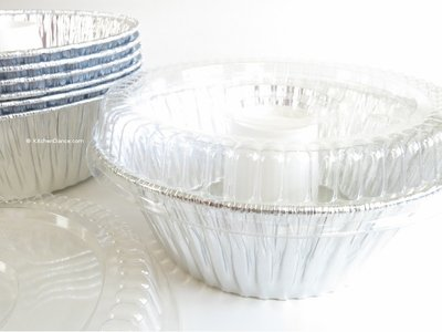 Disposable Aluminum Angel Food Pan with Clear Dome Snap on Lid #4060 (50)