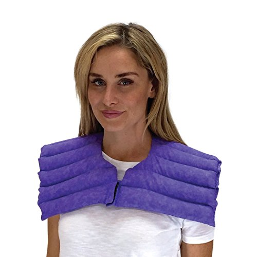 Nature Creation- Upper Body Wrap- Muscle Strain Relief - Heating Pad / Cold Pack- Hot and Cold Therapy (Purple Marble)