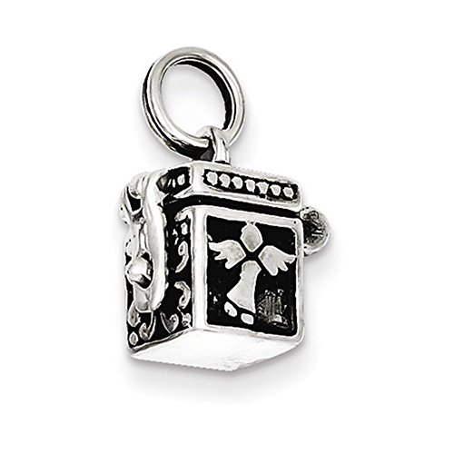 - Jewelry Adviser Charms Sterling Silver Angel Prayer Box Charm