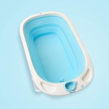 Bañera de bebé Puede Sentarse Mentira bebé baño Plegable Universal ...
