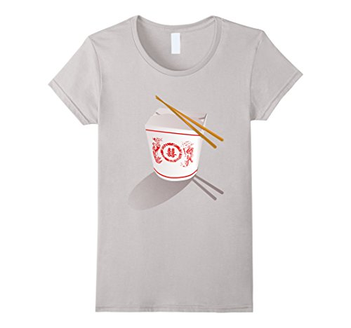 Womens Chinese Food Take Out Box t-shirt Container and Ch...