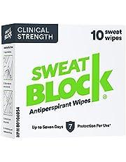 Sweatblock Antitranspirant voor mannen en vrouwen, anti-transpirante wisdoeken met medische kracht voor hyperhidrose, vermindert de zweetvorming voor maximaal 7 dagen per gebruik