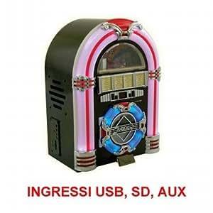 Audiola JB-2705 USB SD Mini set Negro - Microcadena (Home audio mini system, Negro, Front disc loader, AM,FM, Analógico, MMC,SD)