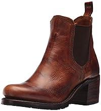 FRYE Women's Sabrina Chelsea Boot, Cognac Oil Tanned Full Grain, 10 M US