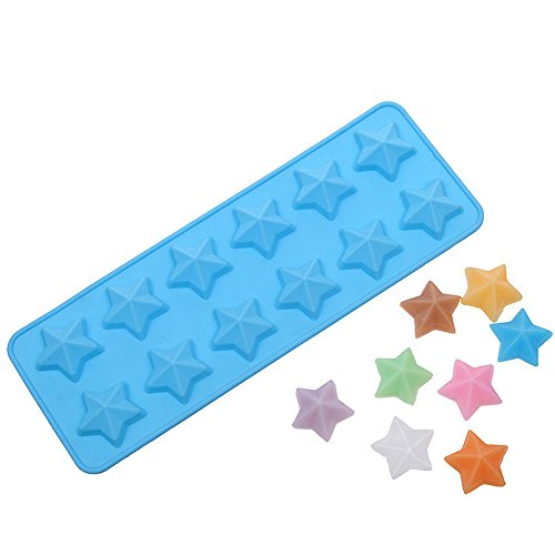 Price comparison product image Yunko Silicone Star Ice Cube Mold Candy Chocolate Cup Cake Decorating Mold Tool