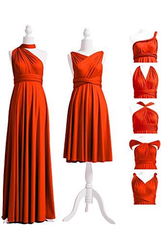 72STYLES Burnt Orange Infinity Dress with Bandeau, Convertible Dress, Bridesmaid Dress, Long,Short, Plus Size, Multi-Way Dress, Twist Wrap Dress