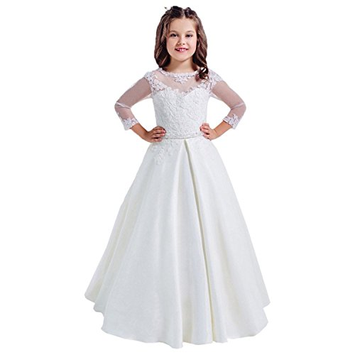 Carat Lace Long Sleeves Hollow Back First Communion