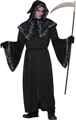 Men's Reaper Male Long Tunic Halloween Horror Costume Spirits + Souls Robe ()