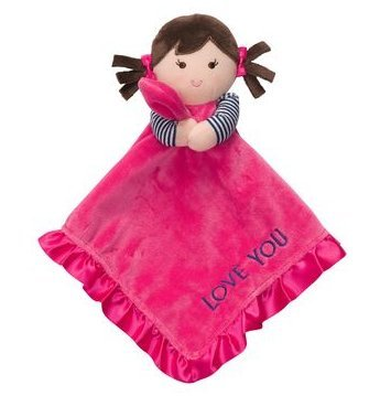 Carter's Hot Pink I Love You Girl Doll Snuggle Buddy Security Blanket