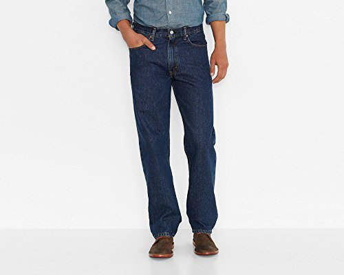 Levi's Men's 550 Relaxed Fit Jeans Dark Stonewash 44x29 ()