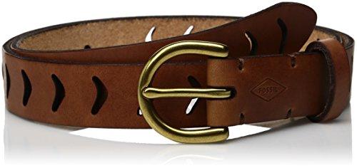 Arrow Leather Belt (Fossil Women's Arrow Perforated Belt Tan, Tan,)