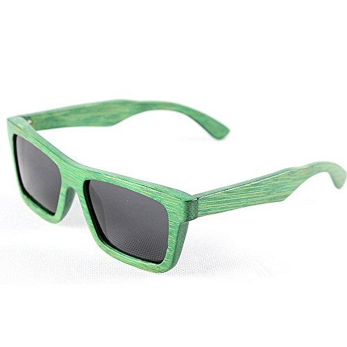 de bambú Retro conducción de Gafas de Gafas sol de mano a retro de hechas hombres de la gafas y gafas de polarizadas Verde G playa sol señora los de sol de de sol gafas de UV madera unisex de protección sol XqSgXwrp
