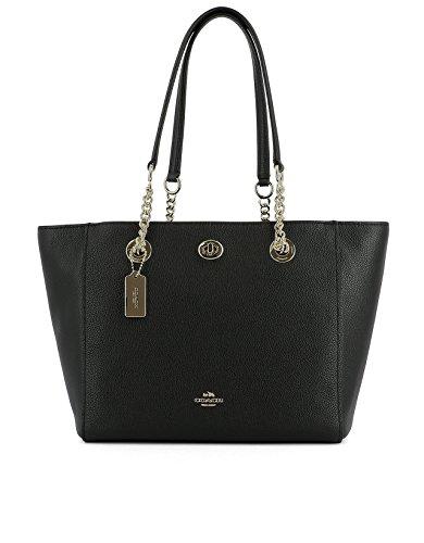 Coach Borsa Shopping Donna 57107Liblk Pelle Nero Venta Comercial Exclusiva Barato Honorario Bajo Precio De Envío Precio Barato QQvNmjf
