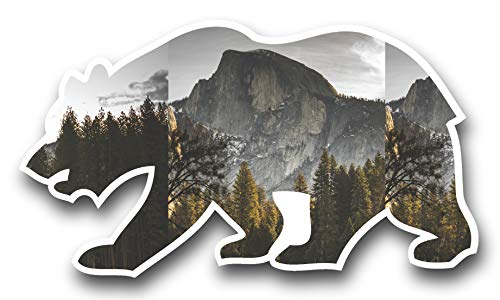 Half Dome Yosemite Valley Cali Bear Vinyl STICKER for laptop journal or wall -