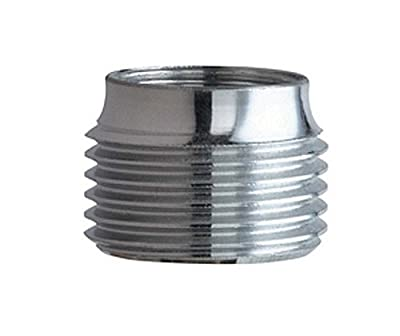 Chicago Faucets E2JKRCF 3/4-Inch Hose Thread Male Outlet to 13/16-Inch-24 UNS Female Inlet, Rough Chrome