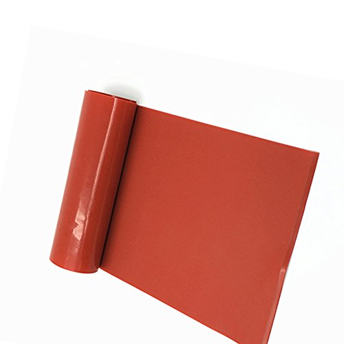 Thick Silicone Rubber Gasket Sheeting, High Temperature No Backing Solid  Red 1/8 by 6 by 6 inch