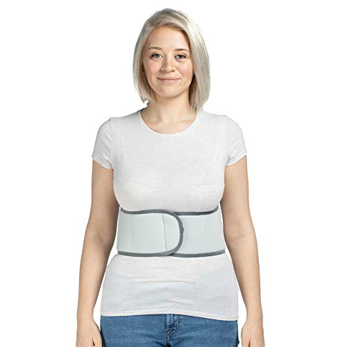 Broken Rib Belt, Elastic Body Rib Protector Support Brace Chest Wrap Belt for Cracked, Fractured or Dislocated Ribs Protection, Compression and Support (Female - Fits 34
