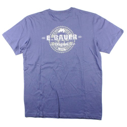 Mens Eddie Bauer Original Denim Goods Tee T-Shirt Medium Blue