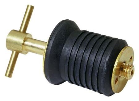 Attwood Brass Handle T-Handle Drain Plug 7526A7